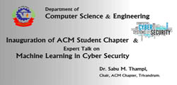 Inauguration of ACM Student chapter at VJEC